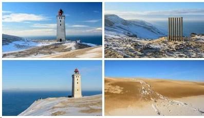 Bilder von Rubjerg Knude und dem Leuchtturm im Winter
