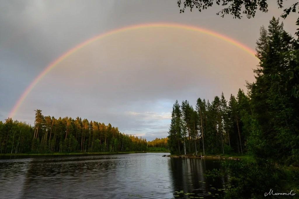Schweden Glaskogen Naturreservat Regenbogen