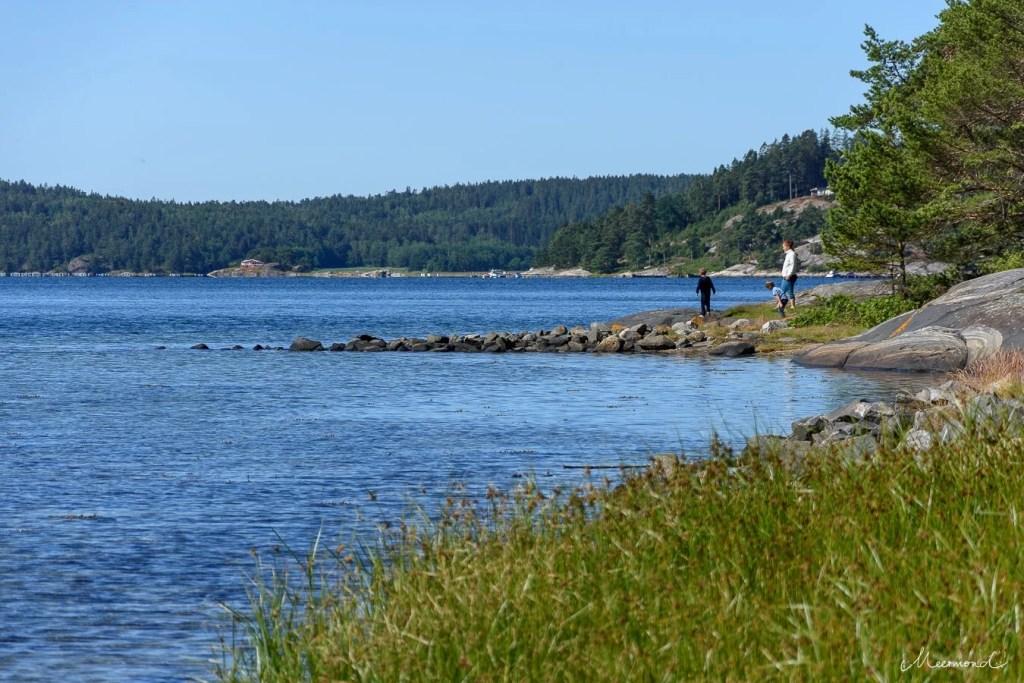 Schweden See Steine Baden