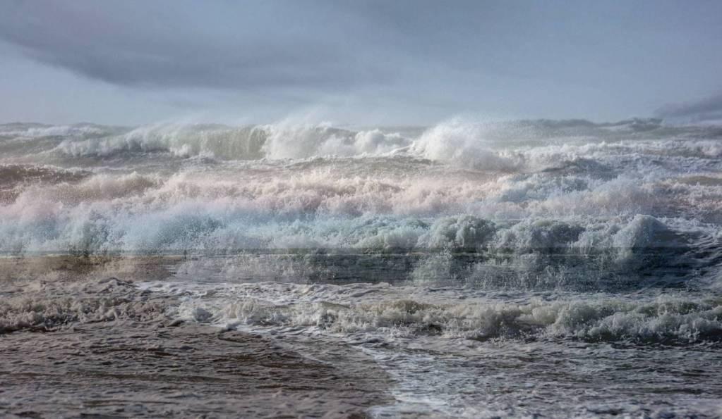 Grenen unter Wasser Fotomontage