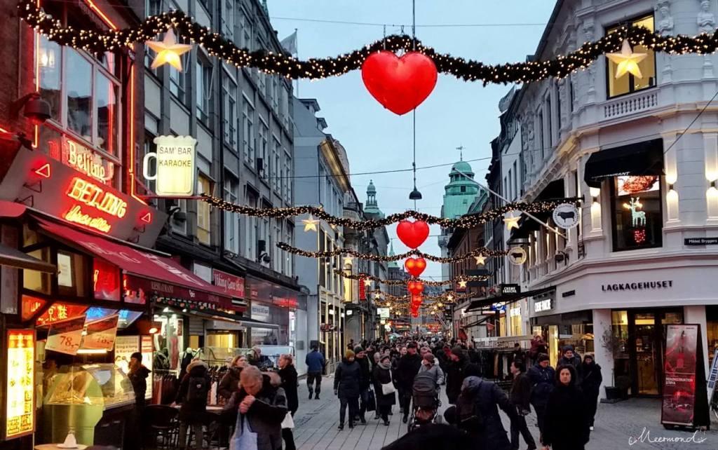 Kopenhagen Strøget Weihnachten Herzen