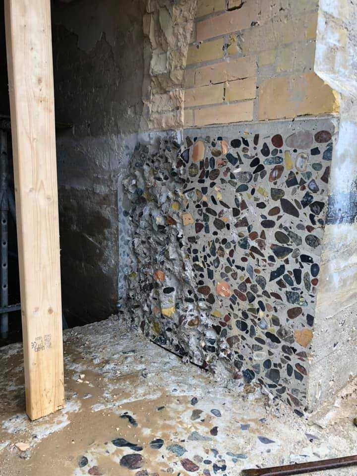 Leuchtturm Rubjerg Knude Fyr - Querschnitt im Fundament und unterem Mauerwerk