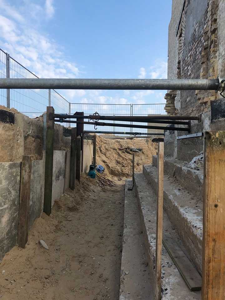 Leuchtturm Rubjerg Knude Fyr - Die Abstützung der Baugrube