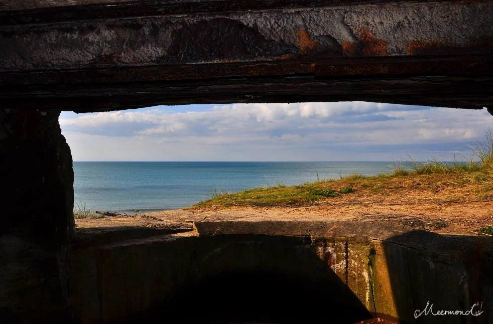 Aussicht aus einem Bunker in Hirtshals an der Spitze von Dänemark