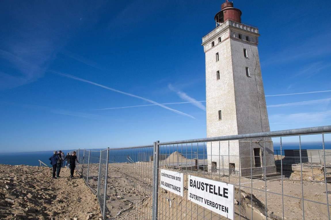 Rubjerg Knude Fyr Leuchtturm Baustelle