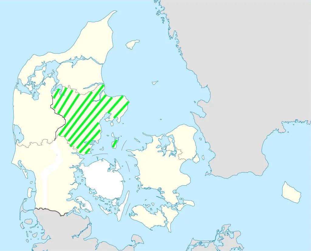 Karte der Urlaubsregion Mittel- und Ostjütland