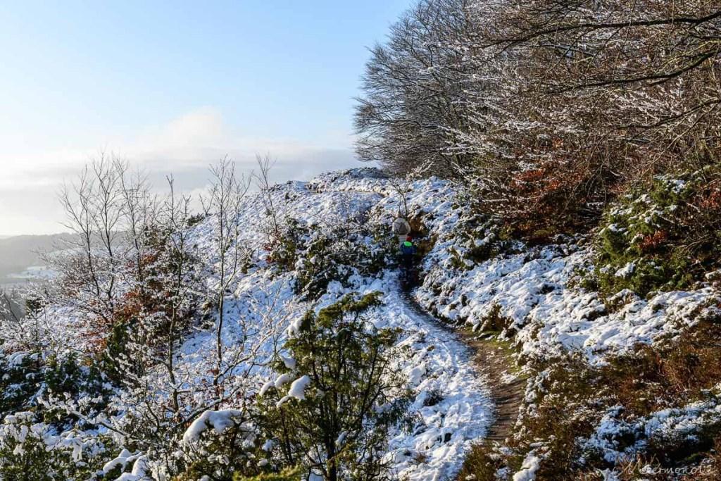 Wandern im Schnee in Dänemark
