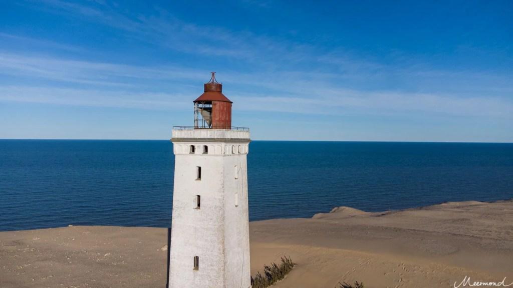 Leuchtturm Rubjerg Knude Fyr von der Drohne aus fotografiert.