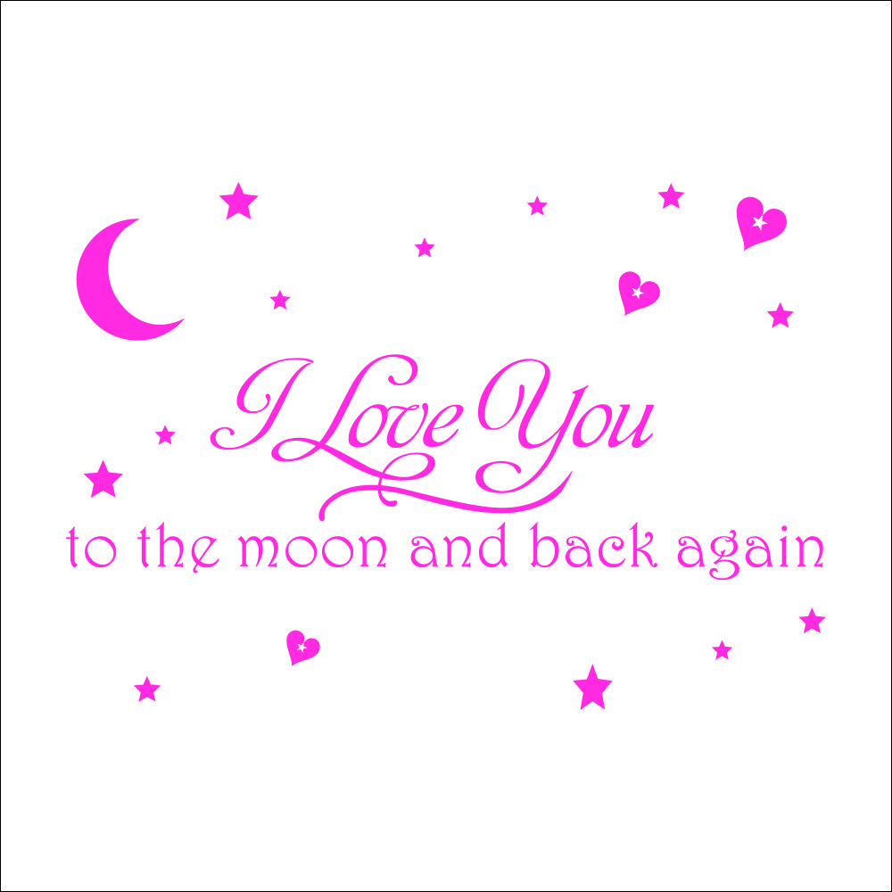 I Love You to the Moon and Back Diverse Kleuren