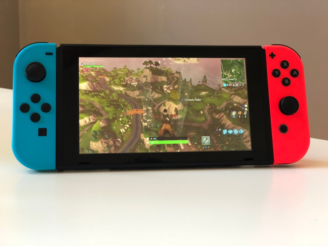 Fornite Dropping Nintendo Switch meester Sander
