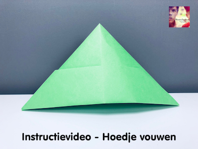 instructievideo Hoedje vouwen