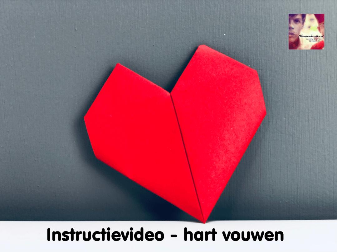 instructievideo hart vouwen