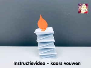 instructievideo kaars vouwen