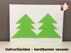 instructievideo kerstbomen vouwen