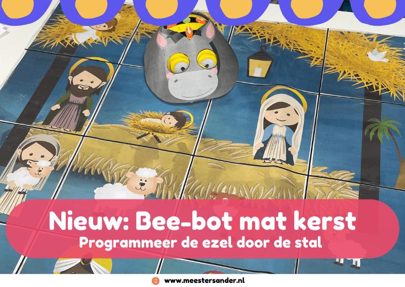 Nieuw: Bee-bot mat Kerststal
