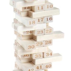 Jenga 數字層層疊 (54塊)