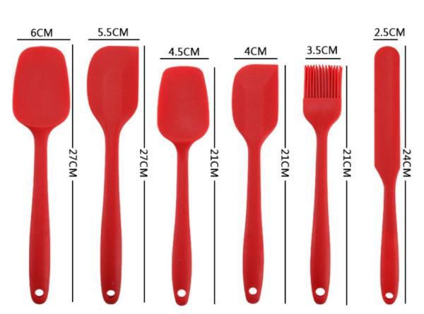 紅色烘焙矽膠刮刀套裝尺寸