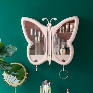 浴室雙層無痕收納盒 (蝴蝶形)