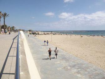 Bandera azul en las playas de Barcelona