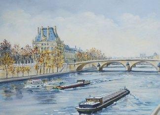 Le Louvre tableau d'Edwige Mitterrand Delahaye