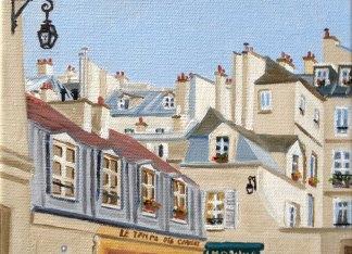 Les toits de Paris peinture à l'huile