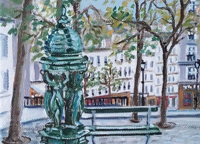parisain fountains Edwige Mitterrand Delahaye
