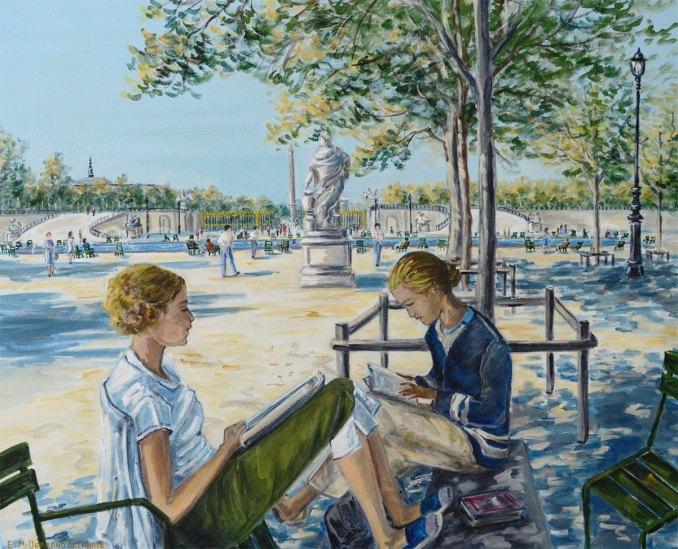 Lecture aux Tuileries