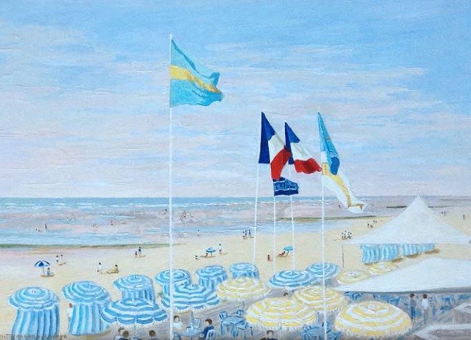 Les drapeaux Edwige Mitterrand Delahaye