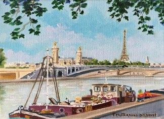 Le pont Alexandre III, peinture à l'huile