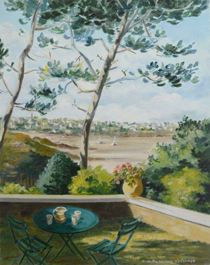 beach of Carentec original painting by Edwige Mitterrand Delahaye