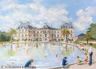 Le bassin du Luxembourg peinture à l'huile