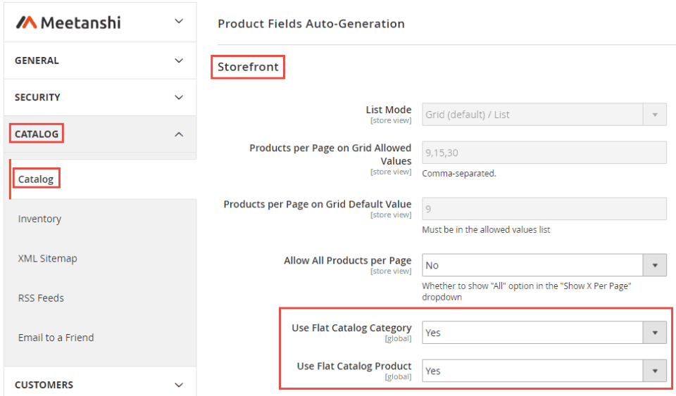 2_Set Flat Categories and Products