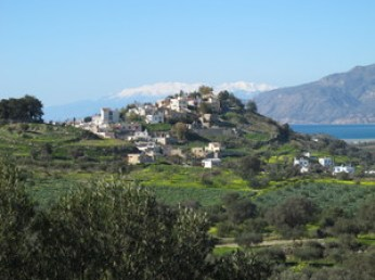 The villages Pitsidia, Sivas, Kamilari in Messara south Crete