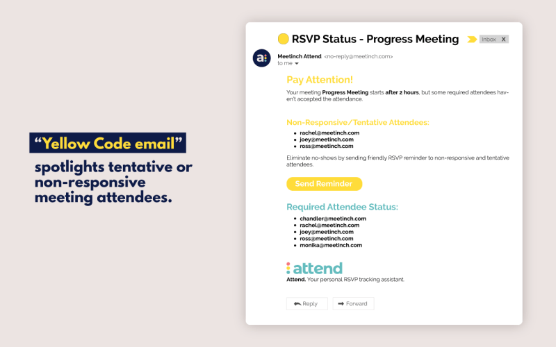 email screenshot explaining how Attend works