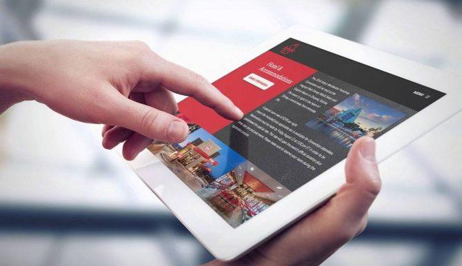 iPad showcasing Arby's event branding