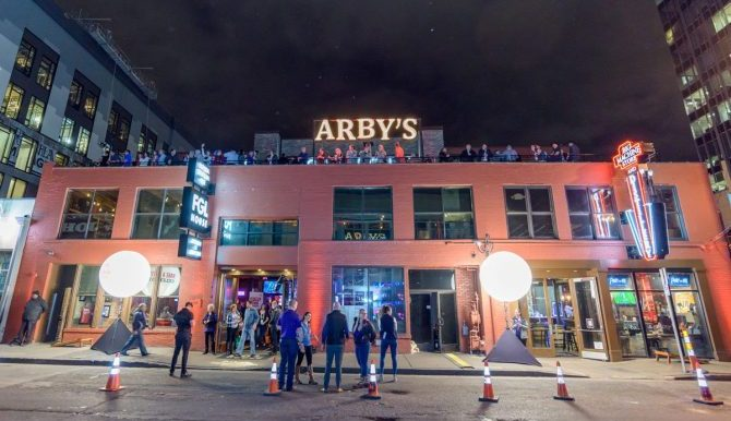 Arby's conference signage in Nashville