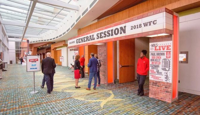 Arby's general session event branding