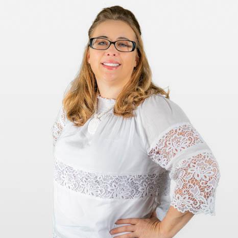 Head shot of Betsey Blimline on white background