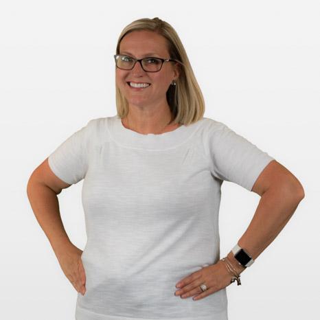 Head shot of Jaimie on white background