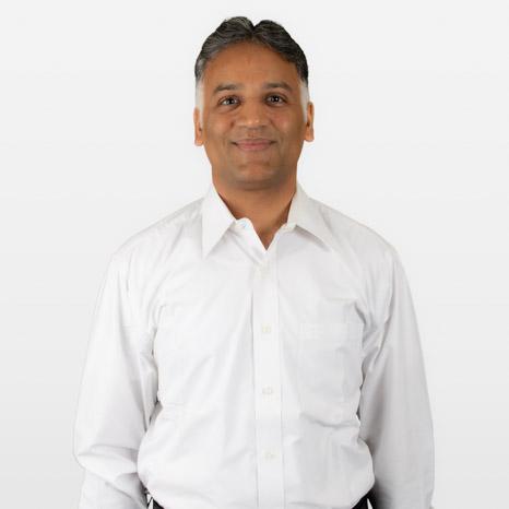 Head shot of Mahesh Rathi on white background