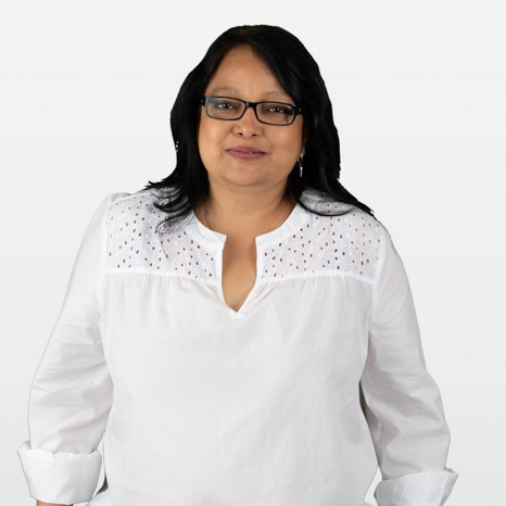 Head shot of Robina Wahid on white background