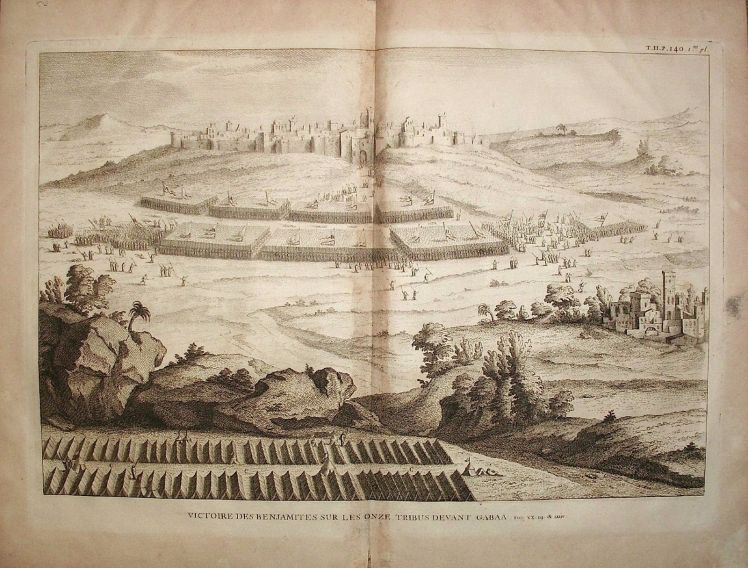 Judges 20 Battle of Gibeah - Calmet 1720