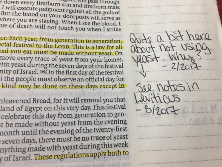 Exodus 12 margin note