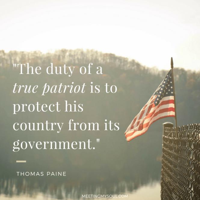 duty of a true american patriot quote
