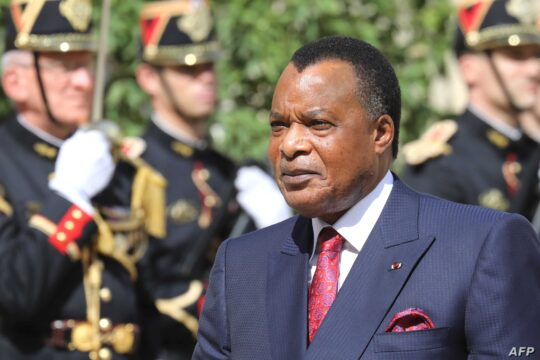 Congo's Denis Sassou Nguesso. Photo by ludovic MARIN/AFP