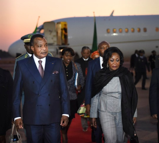 President of Congo Brazzaville, His Excellency Denis Sassou Nguesso and First Lady Antoinette Sassou Nguesso. Photo credit: GovernmentZA/Flickr