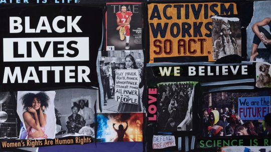 Social Media Activism. Getty Images. Collage by Delphine Diallo