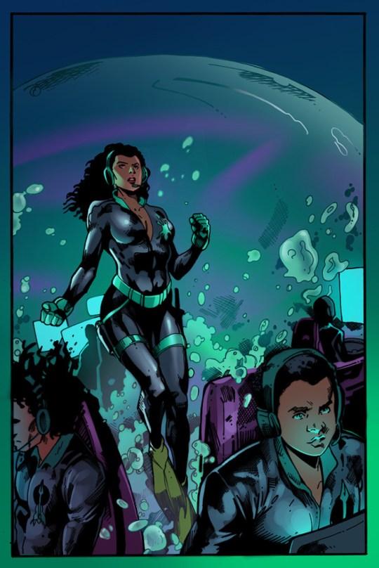 Illustrations by Abdul Qadim Haqq and Dai Sato's graphic novel, The Book of Drexciya