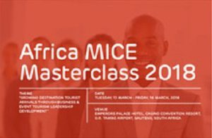 New dates set for Africa MICE Masterclass in Johannesburg, South Africa
