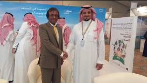 Minister Anil Gayan of Mauritius at the 10th edition of Riyadh Travel Fair